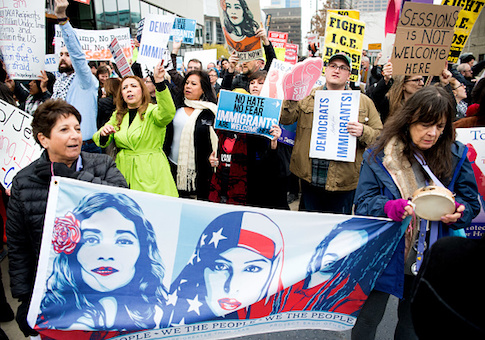 sanctuary state immigration protest