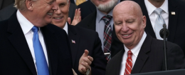 Rep. Kevin Brady and President Trump