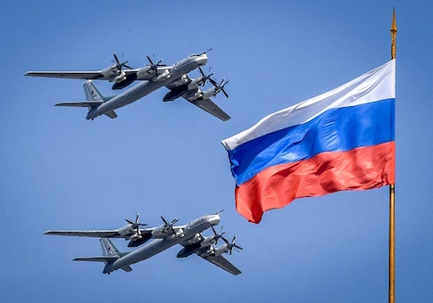 Russian Tupolev Tu-95 turboprop-powered strategic bombers