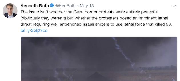 Ken Roth tweet