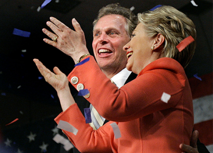 Terry McAuliffe and Hillary Clinton