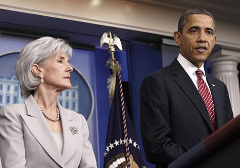 President Obama, Kathleen Sebelius /AP