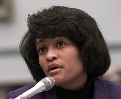 Mills testifies on Capitol Hill on Nov. 6, 1997. (AP)