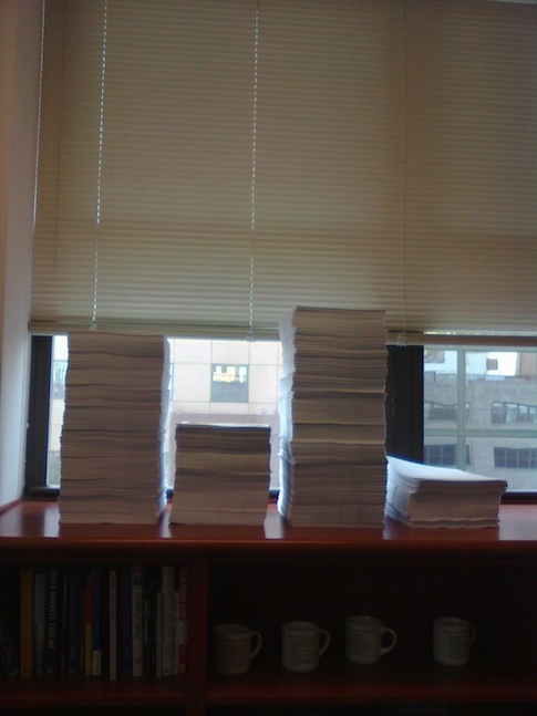 Photo of paperwork LI had to submit to compply with IRS audit / Source: Leadership Institute