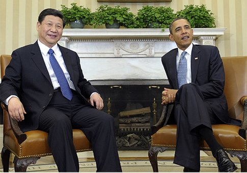 Obama and Chinese President Xi Jinping