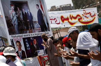 Muslim Brotherhood protesters in Cairo