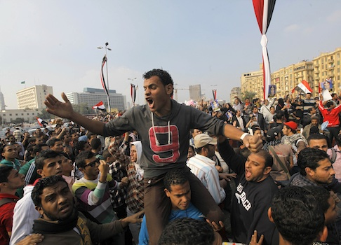 A pro-Muslim Brotherhood demonstration in Tahrir Square / AP