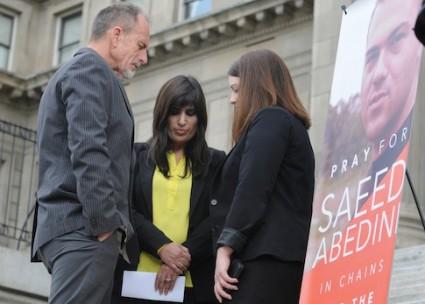 Naghmeh Abedini, wife of Saeed Abedini, prays for her husband's release