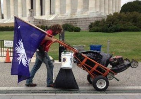 Lawnmower shutdown man