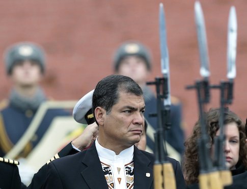 Rafael Correa on offical visit to Russia (AP)