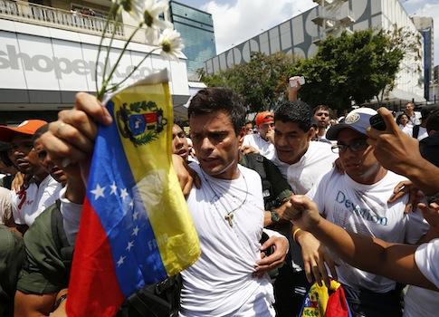 Venezuelan opposition leader Leopoldo Lopez