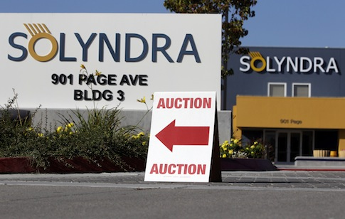 Solyndra headquarters in Fremont, Calif. / AP