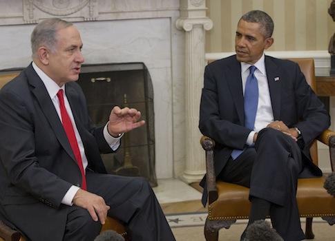 President Barack Obama meets with Israeli Prime Minister Benjamin Netanyahu