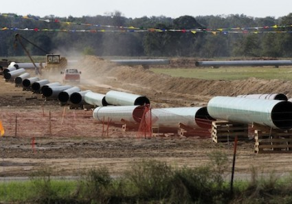 Large sections of Keystone Pipeline in Texas