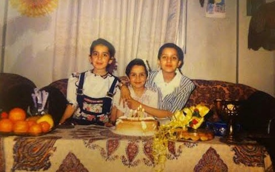 Rayhaneh childhood birthday picture