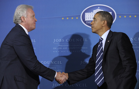 General Electric CEO Jeffrey Immelt and President Barack Obama (AP)
