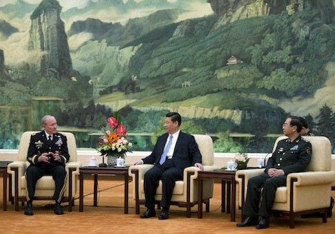 Gen. Martin Dempsey, Chinese President Xi Jinping, and Chinese Chief of the General Staff Gen. Fang Fenghui / AP