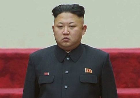 N. Korean leader Kim Jong Un at parliament session