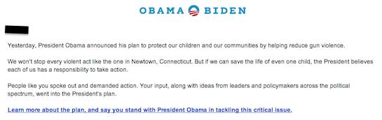Obama campaign Jan 17, 2013