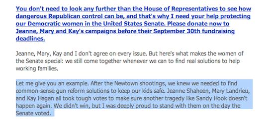 Warren campaign Sept 24, 2013