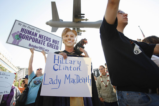 Anti-Clinton protester. (AP)