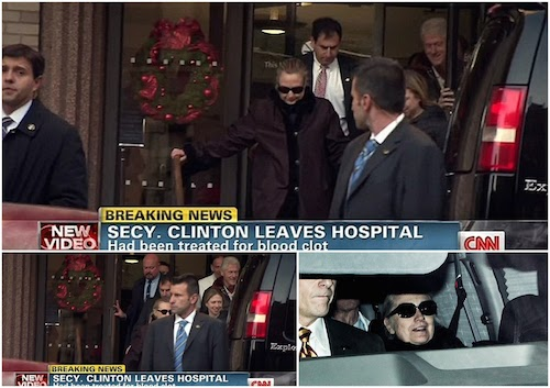 Hillary Clinton leaves hospital with smiles that show she's going to be OK