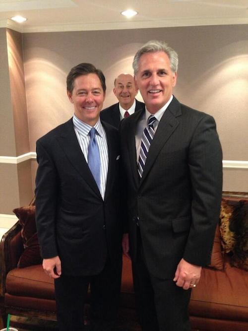 Gohmert photobombs (via Twitter)