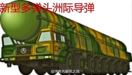 Official graphic of DF-41