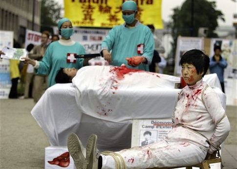 Image result for pictures from organ harvesting in china