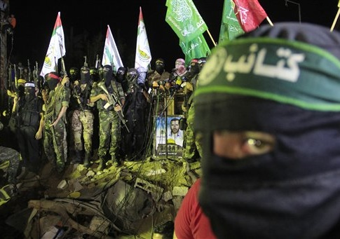 Palestinians joyfully take part in the grand celebration organized by the Hamas movement on the occasion of what they call, victory over Israel after 8 weeks of war