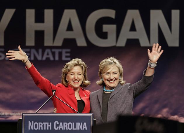 Hillary Clinton, Kay Hagan