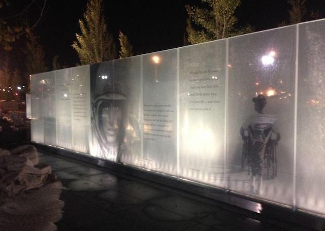 Memorial at Night / DisabledVet Memorial Twitter Account
