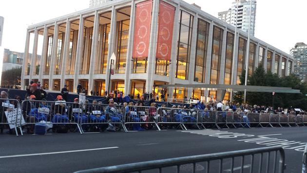 Protest outside the Metropolitan Opera / Adam Kredo