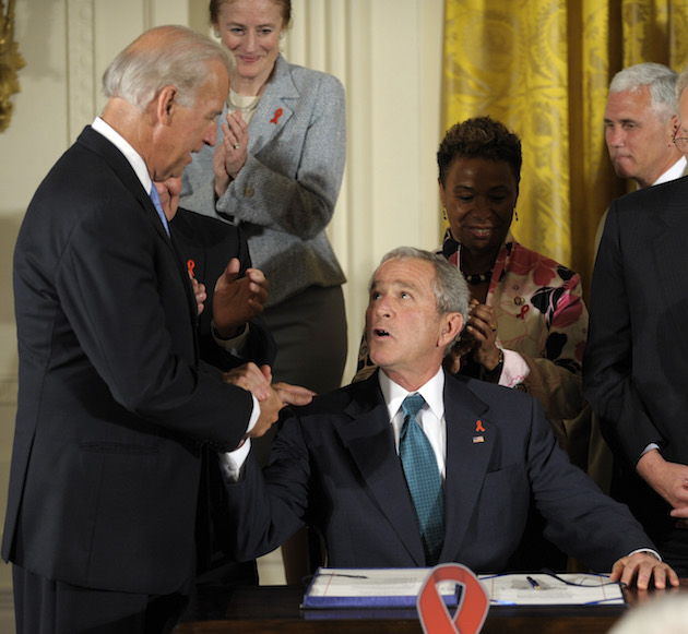 George W. Bush, Joe Biden