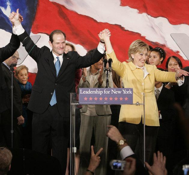 Eliot Spitzer, David Paterson, Andrew Cuomo, Hillary Clinton
