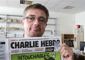 AP's cropped photo of Charlie Hebdo editor Stephane Charbonnier