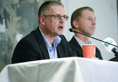 Danish journalist Flemming Rose speaks during a press meeting in Copenhagen, on Wednesday, Sept. 29, 2010.