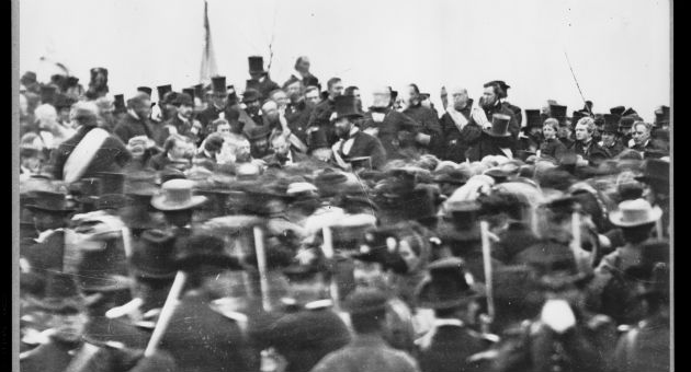 The only known photograph of Lincoln's delivery of the Gettysburg Address / AP