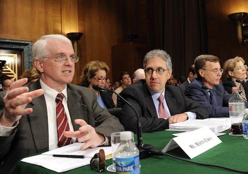 Center for Responsible Lending Chief Executive Officer Martin Eakes testifies on Capitol Hill in Washington, Thursday, Nov. 13, 2008