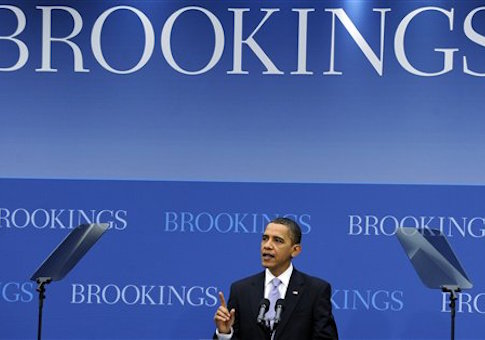 President Barack Obama speaks on the economy at the Brookings Institution in Washington, Tuesday, Dec. 8, 2009