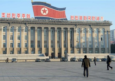 Kim Il Sung Square in the center of Pyongyang appears as usual on Jan. 8, 2015, believed to be the 32nd birthday of leader Kim Jong Un
