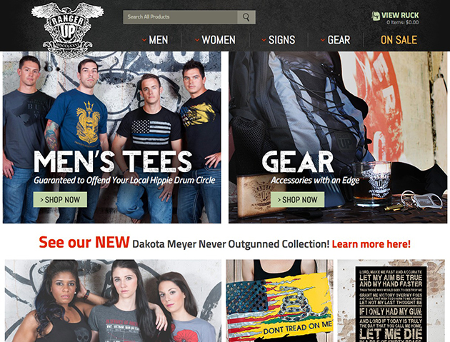 Screenshot of Ranger Up Site