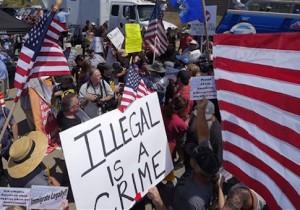 Immigration protest in California / AP