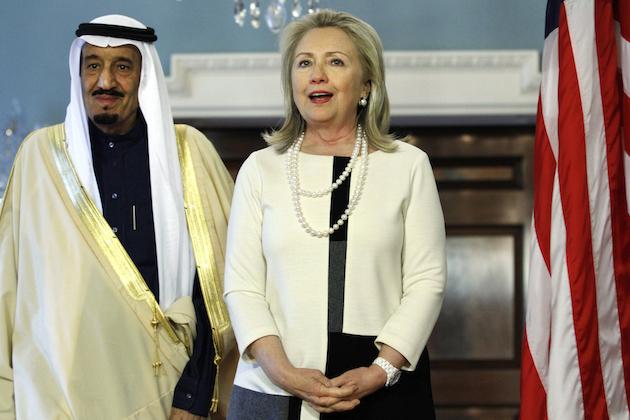 Hillary Clinton courts a prospective donor. (AP)
