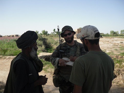 Major Matt Golsteyn in Afghanistan, April 2010