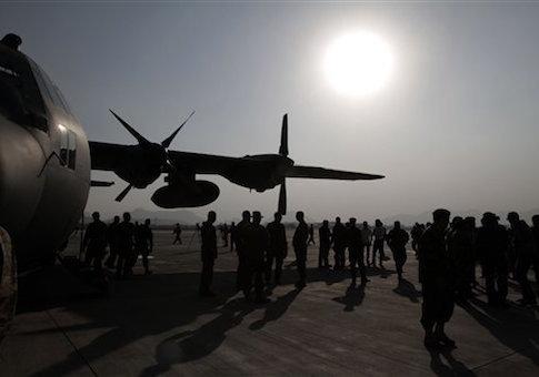 C-130 transport aircraft