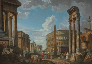 Roman Ruins with a Prophet by Giovanni Paolo Panini