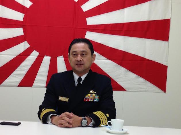 Japan Maritime Self Defense Forces Capt. Yasuhiro Sato commander of the Aegis missile defense destroyer JS Kirishima