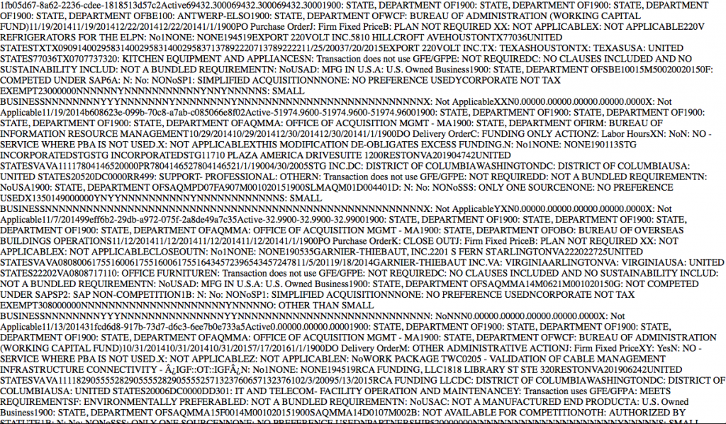 XML form results