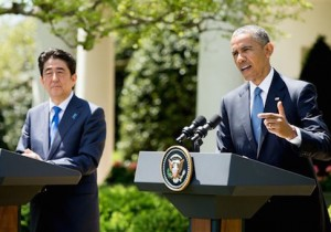 Shinzo Abe, Barack Obama / AP